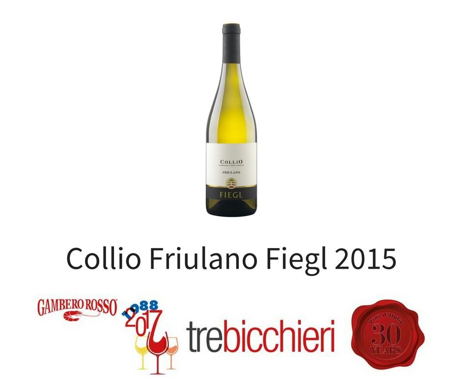 Tre bicchieri Friulano Fiegl