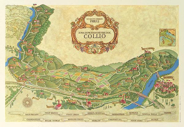 Mappa del Collio